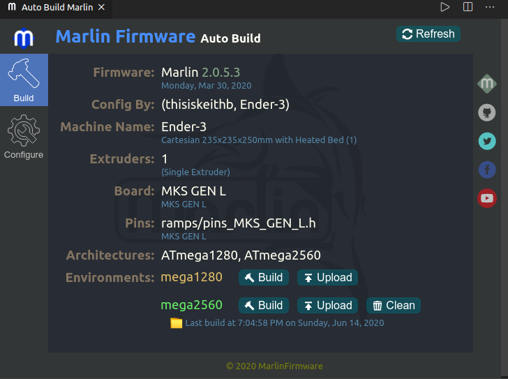 Marline Firmware Auto Build Screenshot