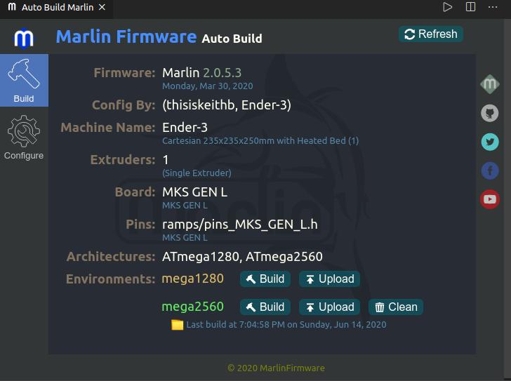 Marline Firmware Auto Build Screenshot